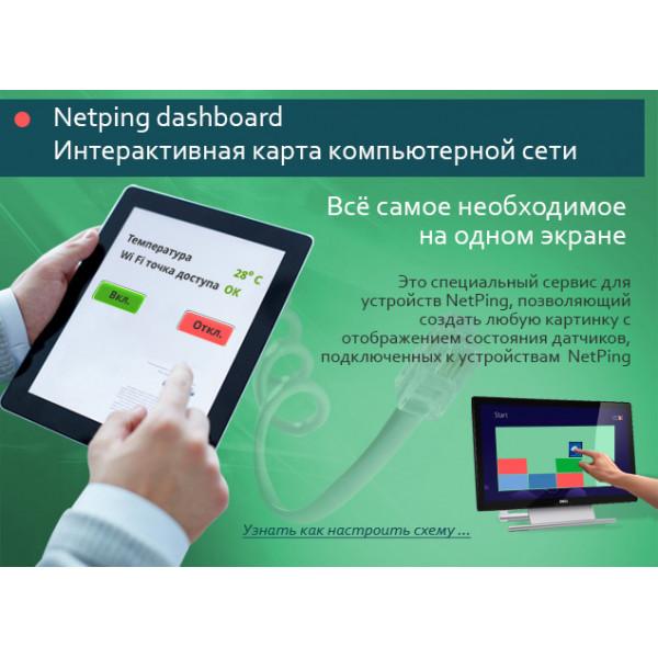 Netping dashboard, интерактивная карта компьютерной сети